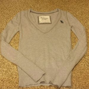 SALE!! Abercrombie & Fitch Grey V-Neck Sweater