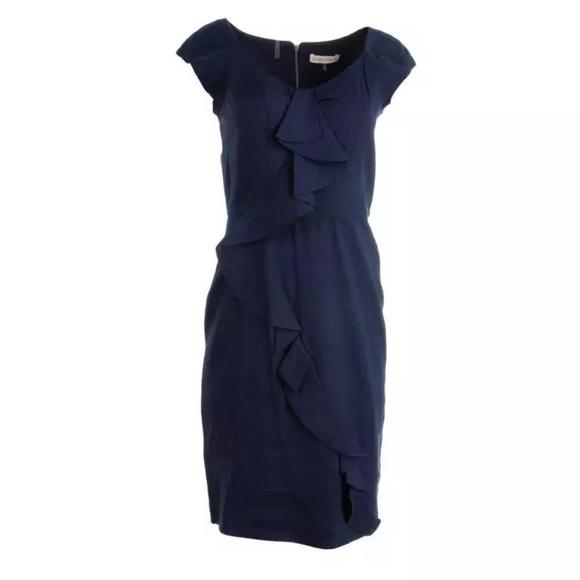 ab1e05c21d NWT REBECCA TAYLOR Navy Linen Dress  375