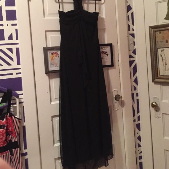 Studio 1940 Dresses Plus Size Black Sheer Halter Floor Length