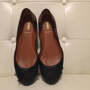 FENDI Shoes - Fendi Pequin striped ballet flat