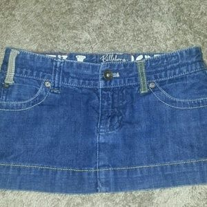Billabong Dresses & Skirts - BILLABONG  Jean mini skirt size 1