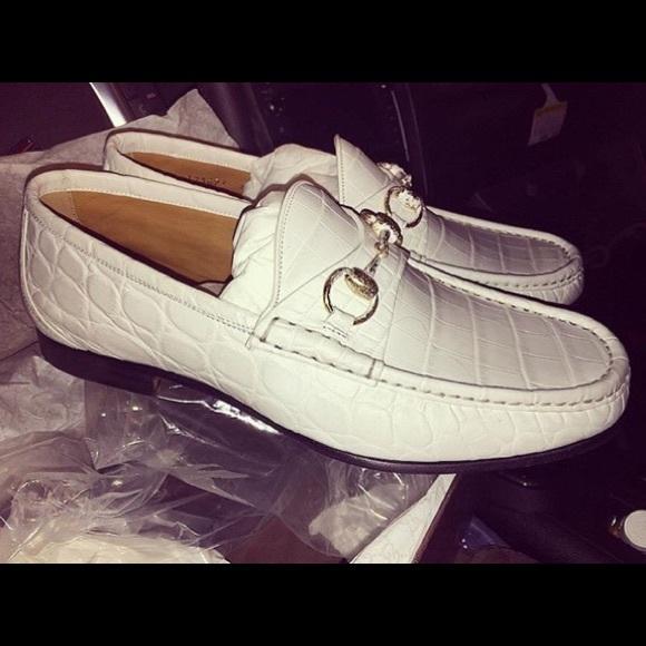 443aa9b04c8 Gucci Men s horsebit crocodile loafer