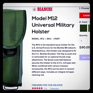 Holster, M12 pistol holster for sale