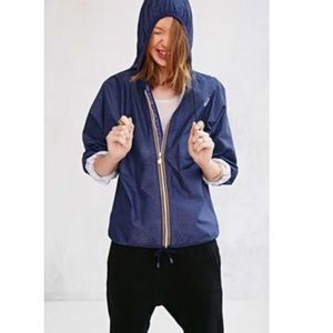 K-way Jackets & Blazers - K-way navy classic lightweight rain jacket