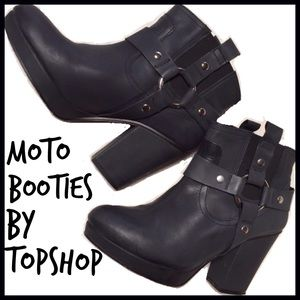 Topshop Shoes - Topshop Moto Booties