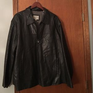 82% off Linea Uomo Other - Men black leather jacket from Audra's ...