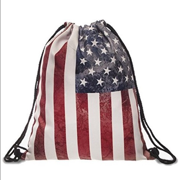 29 off bags american flag tumblr drawstring bag poshmark american flag tumblr drawstring bag voltagebd Image collections