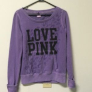 VS PINK purple sweatshirt SZ S