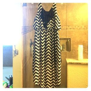 Chevron Hi-Lo Dress