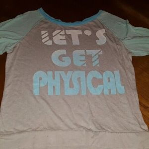 Tops - Mid Sleeved let's get physical shirt