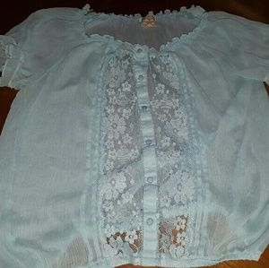 Tops - Light blue blouse