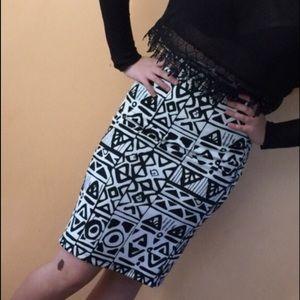 Classic Woman Dresses & Skirts - Classic Geo Print Skirt