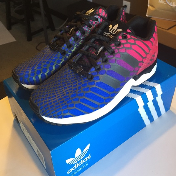 detailed look 962bb 89264 closeout adidas zx flux xeno blue 6c7d1 38509