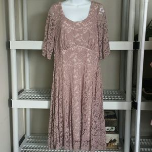 BEAUTIFUL MAUVE COLOR  LACE  DRESS 