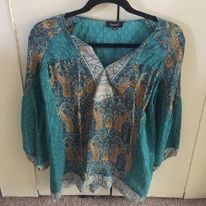 Tolani blouse size xs.
