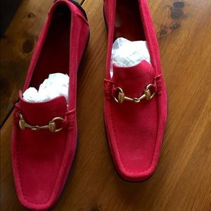 c87757d2db7 Gucci Shoes - Gucci Women s Moca Pelle S Gomma Red Suede Loafers