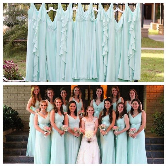 David\'s Bridal Dresses   Ccodavids Bridal Mint Bridesmaid Dress ...