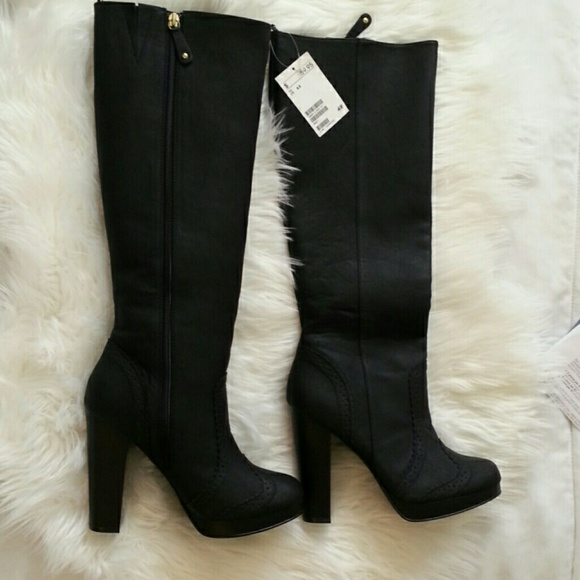 15 h m shoes nwt black h m knee high boots from lai