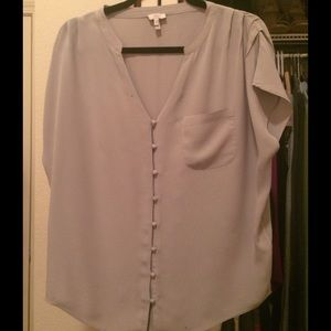 Joie 100% silk shirt sleeve blouse