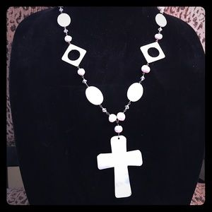 Jewelry - Mother of Pearl Cross Necklace