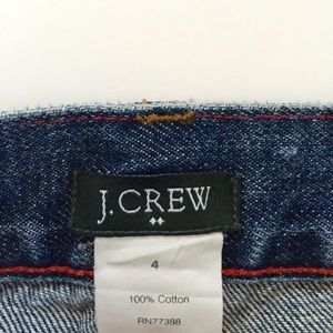 J Crew denim mini skirt