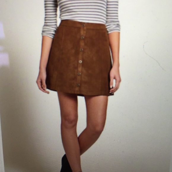 55% off Hollister Dresses & Skirts - Faux suede A-line skirt from ...