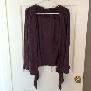 Delia's purple hi-lo cardigan