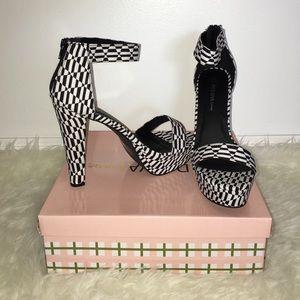 38f1b2736f0 Wild Diva Shoes - Wild Diva Black   White Heels