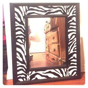 56 off accessories 2 zebra rhinestone lipstick id for Miroir zebre
