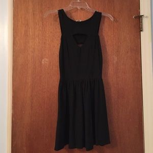 Little black dress with cut outs front and back