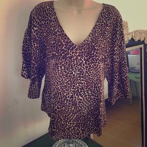1ed966fd685d84 Gemma for Barneys Co-Op Tops - 100% silk animal print top