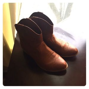 Shoes - Brown Cowboy Booties