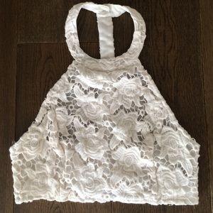 LF Tops - Stella Laguna Beach white lace top