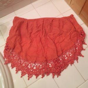 LA Hearts/Pacsun lace crochet crop top