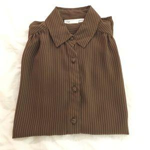 Tops - Vintage brown blouse