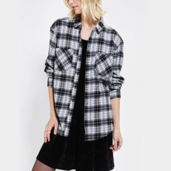 b63a3f832532f1 Urban Outfitters Tops | Bdg Black And White Flannel | Poshmark