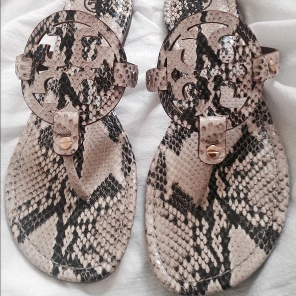 3035fe024 New Tory Burch Sz 9 Snakeskin Miller Sandals