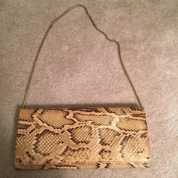 Python Real SnakeSkin Vintage Clutch/Shoulder Bag Bags ...