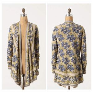 Anthropologie Pointed Tapestry Cardigan