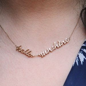 kate spade Jewelry - Kate Spade Hello Sunshine Say Yes Gold Necklace