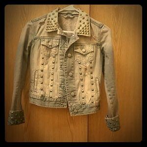 HOST PICK Distressed Jean Jacket
