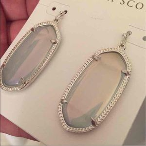 90e840435 Kendra Scott Jewelry - Kendra Scott Elle Silver Earrings Iridescent Slate