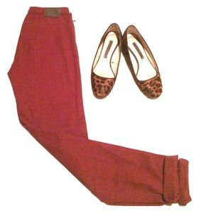 H&M burgundy pants