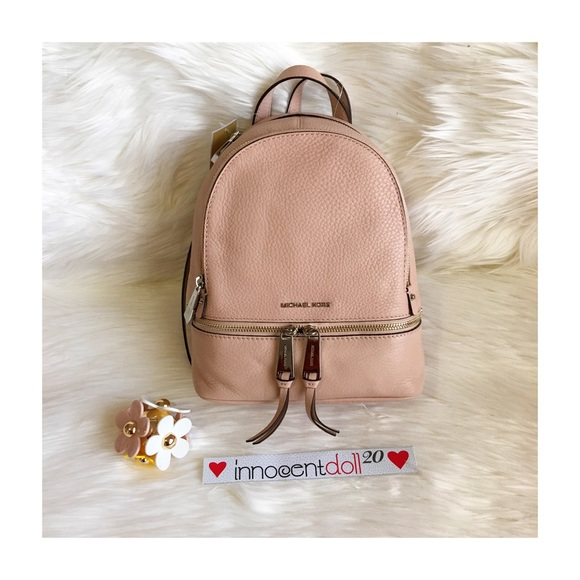 c8628d81bc073 ... clearance michael kors xs rhea backpack bag shopstyle ed356 78367