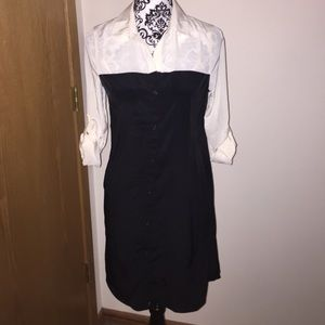 NWT XS old navy color block tunic dress