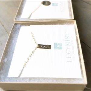 "14k Gold Filled ""XOXO"" Mini Bar Necklace"