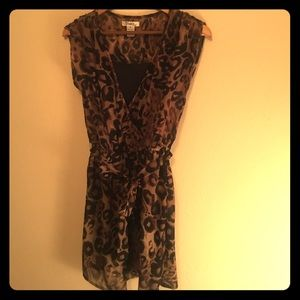 Dresses & Skirts - SALE! Sexy cheetah dress with built in liner