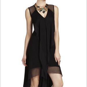 BCBGMAXAZRIA Cydnee Draped Cascade-Front Dress