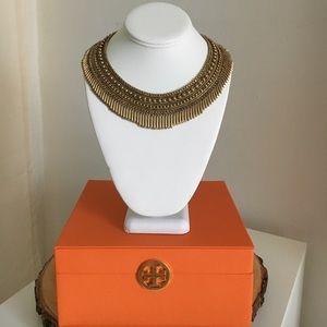 Stella and dot gold fringe necklace