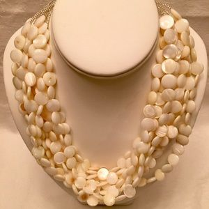 Kenneth Jay Lane Beaded Motheroif Pearl Necklace
